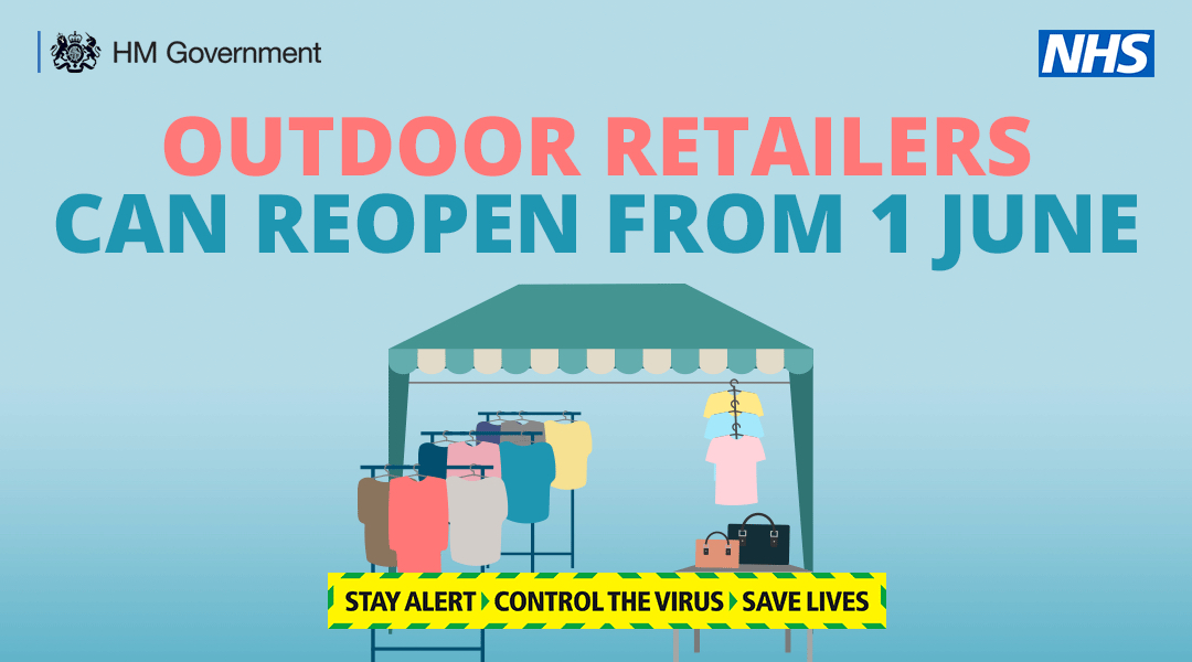 Outdoor markets that meet the COVID-19 secure guidelines can reopen from 1 June to shoppers and workers. Read more about the reopening timeline here: gov.uk/government/new…