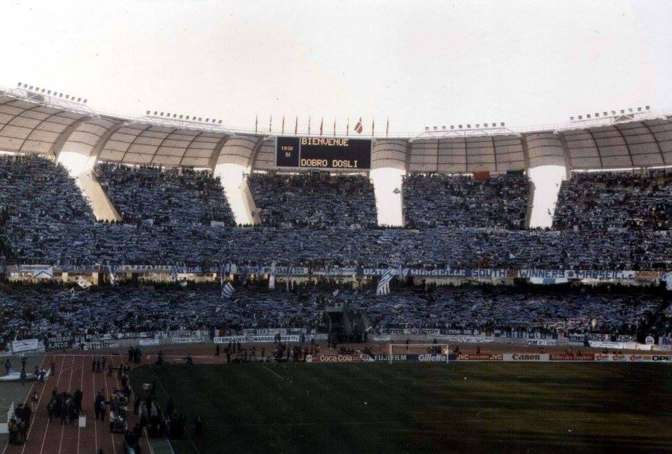 ON THIS DAY 1991: Marseille at Stadio San Nicola for the European Cup Final against Red Star Belgrade #OM