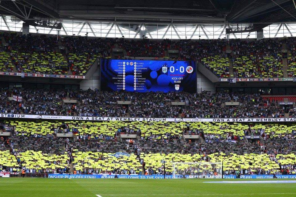 ON THIS DAY 2017: Huddersfield Town promoted to the Premier League after beating Reading at Wembley #HTAFC