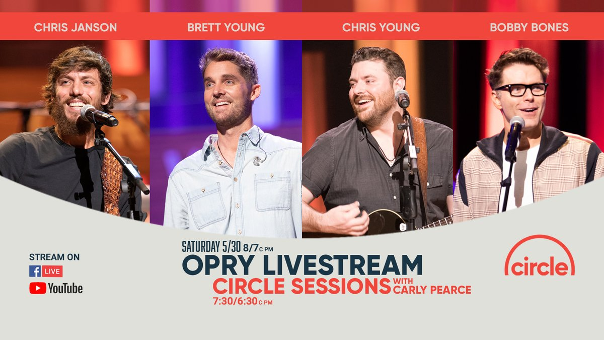 Can't wait for the Grand Ole Opry show TOMORROW!!! What about you?? Tag your friends in the comments below so they dont miss out on the fun!👇😍👇 @janson_chris @brettyoungmusic @chrisyoungmusic @mrbobbybones @opry @shrinershosp @BassProShops #circleallaccess #UNBROKEN