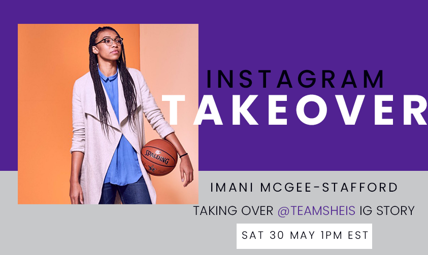 Activist, poet, professional basketball player, soon to be lawyer, and now SheIS Ambassador, @imanitrishawn_  is taking over our Instagram Story tomorrow! Be sure to head to @teamsheis on Instagram this Saturday, May 30th at 1pm EST! 🏀 #SheISAmbassador https://t.co/lUGiJvZIXP