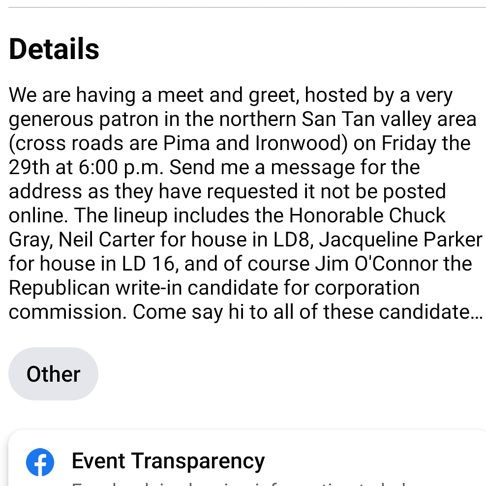 TONIGHT!! @votenickmyers Is who you need to PM  @electjacqparker @NealCarterAZ @jimoconnoraz @chuck_gray  https://facebook.com/events/s/meet-and-greet-with-local-and-/383422929244684/?ti=as…  #meetandgreet #candidate #2020elections #azpolitics #instapolitics #AZHouse #ACC #LD16 #LD8 #Trump2020 #trumptrain#LeadRight #reddowntheballotpic.twitter.com/xDzPgvfNUr
