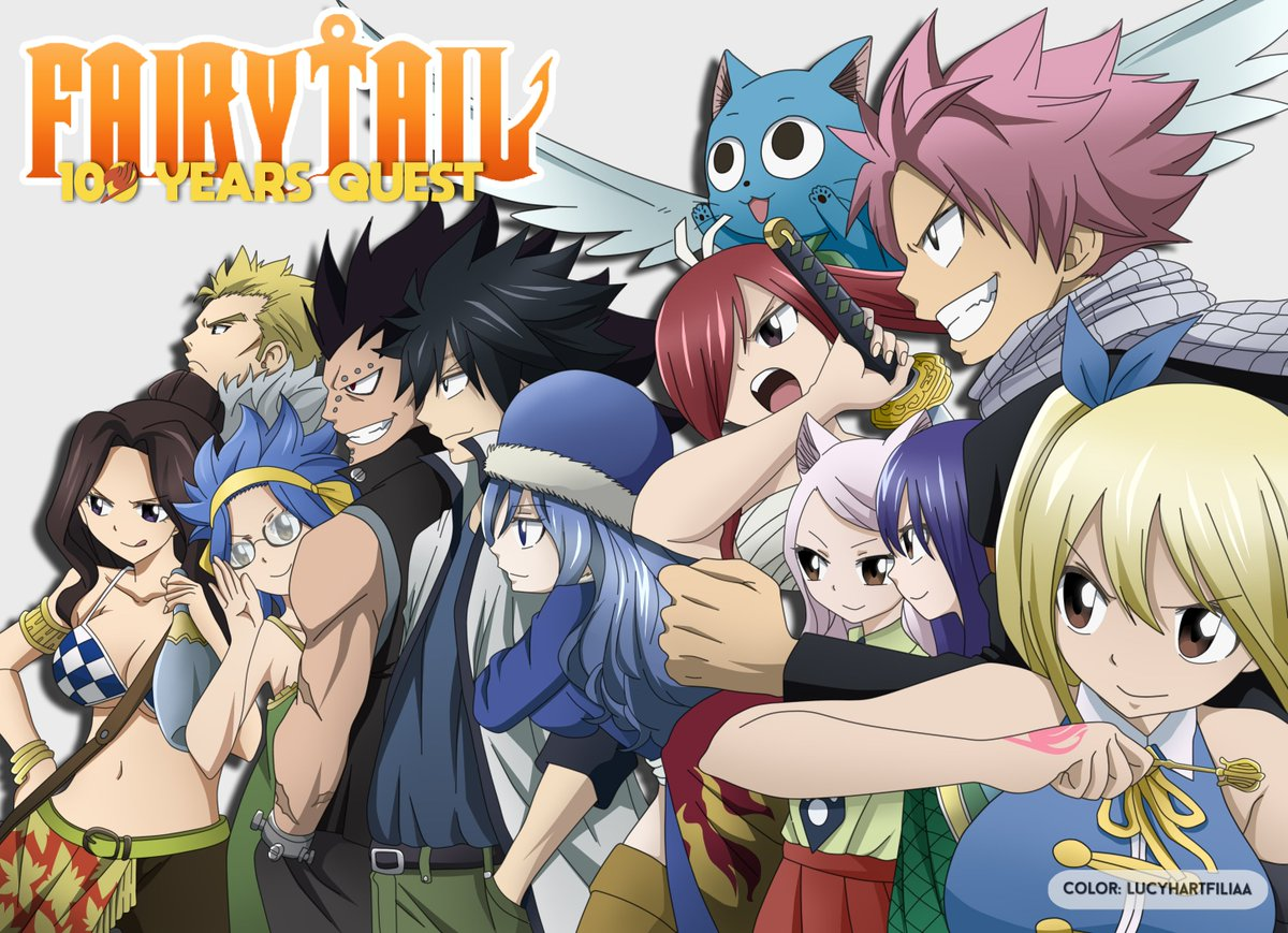 """coloring """"FT: 100 Years Quest"""" Cover in chap. 50   #FairyTail100YearsQuest #FairyTail pic.twitter.com/zdDkqoKp8n"""
