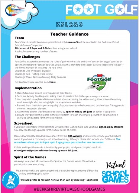 This week's challenge is Footgolf with three time World Tour Champion Ben Clark. Follow the link https://t.co/vbd0hilSd2 to find the teacher guidance, the activity cards with all links, task card guidance and scoresheet. Good luck to all those taking part!
