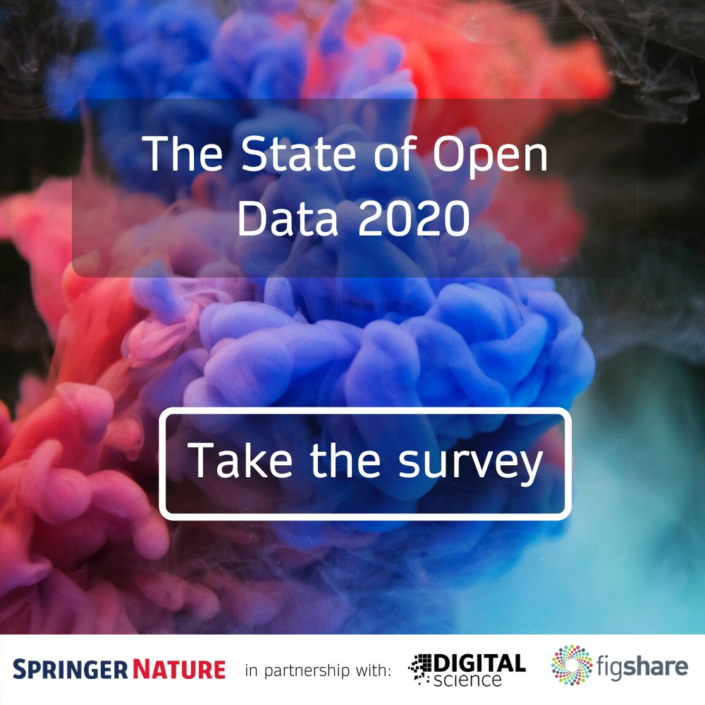 Have your say on the future of open data, and you could win one of five $100 gift cards. Take the survey: https://t.co/jZDp8JteaF #StateofOpenData @SpringerNature @figshare https://t.co/8WcCJ1AeY1