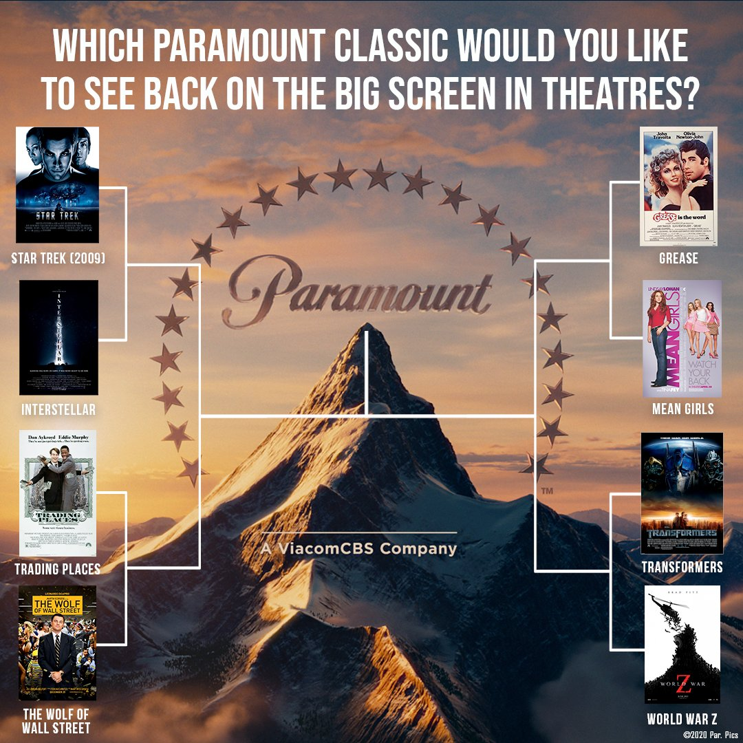 Which Paramount Classic would you like to see back on the big screen in theatres? 🎬🍿 Vote below! https://t.co/9lV9Gp31Zg