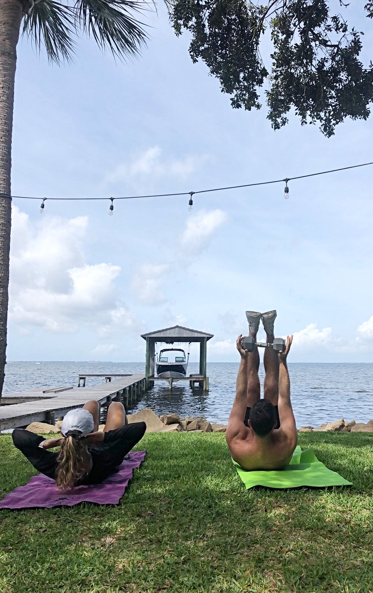 Workout with a view! With facilities remaining closed and public gyms still in phase 1, you gotta make the most of what you have. Glad I have this woman to put me through a killer workout!!💪🏼
