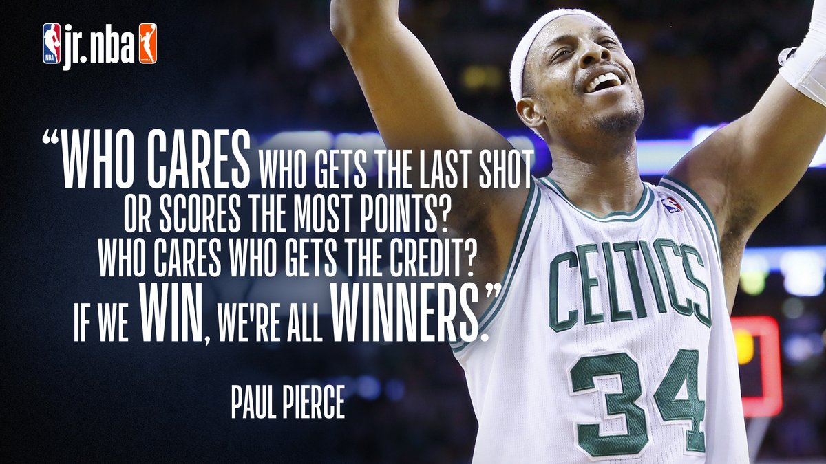That's a champion's mentality‼️  Powerful statement by @NBA and @Celtics legend @paulpierce34 ☘️ #JrNBAatHome #NBATogether https://t.co/jUX7sA44E8