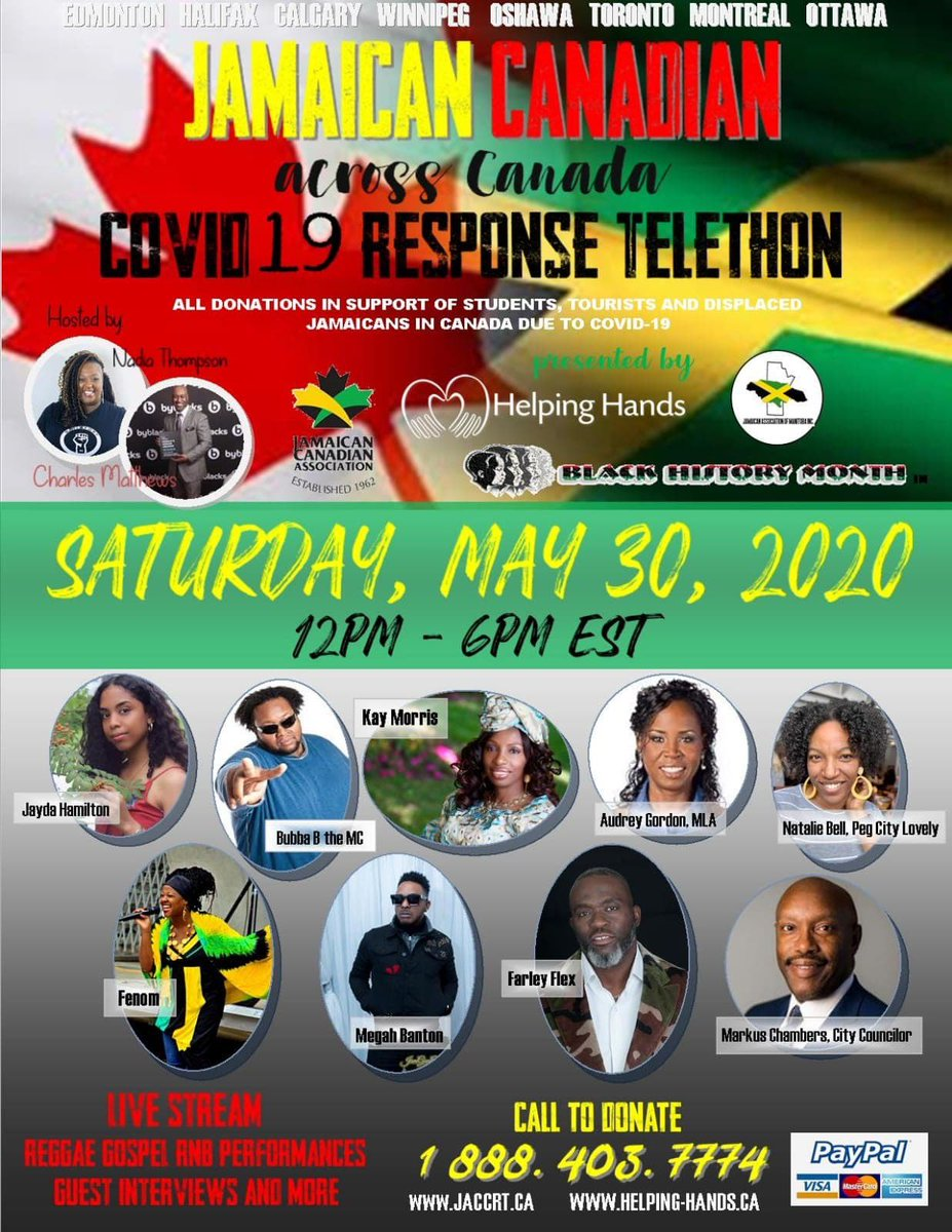 test Twitter Media - Only one day until the Jamaican Canadian Covid19 Response Telethon.  Spread the word to family members, friends, neighbours and businesses to support this worthy cause.  #jaccrt #jca #donatejaccrt https://t.co/GMBd0OgZsR