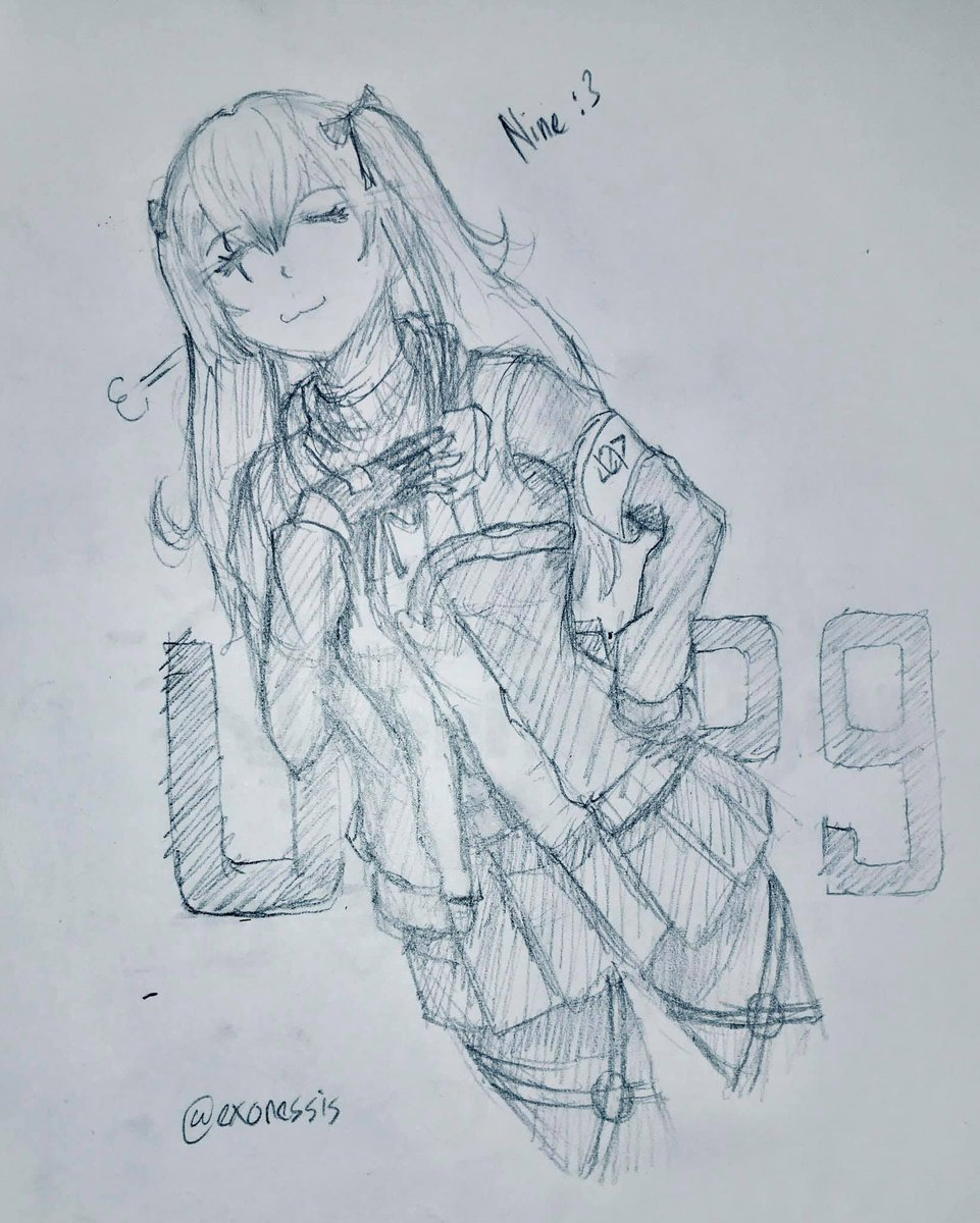 #GirlsFrontline #イラスト #少女前線 #ドールズフロントライン #sketch #ドルフロ #UMP9 #rkgk  Meetings are boring so have a smug ninepic.twitter.com/CTOx8Akfx7