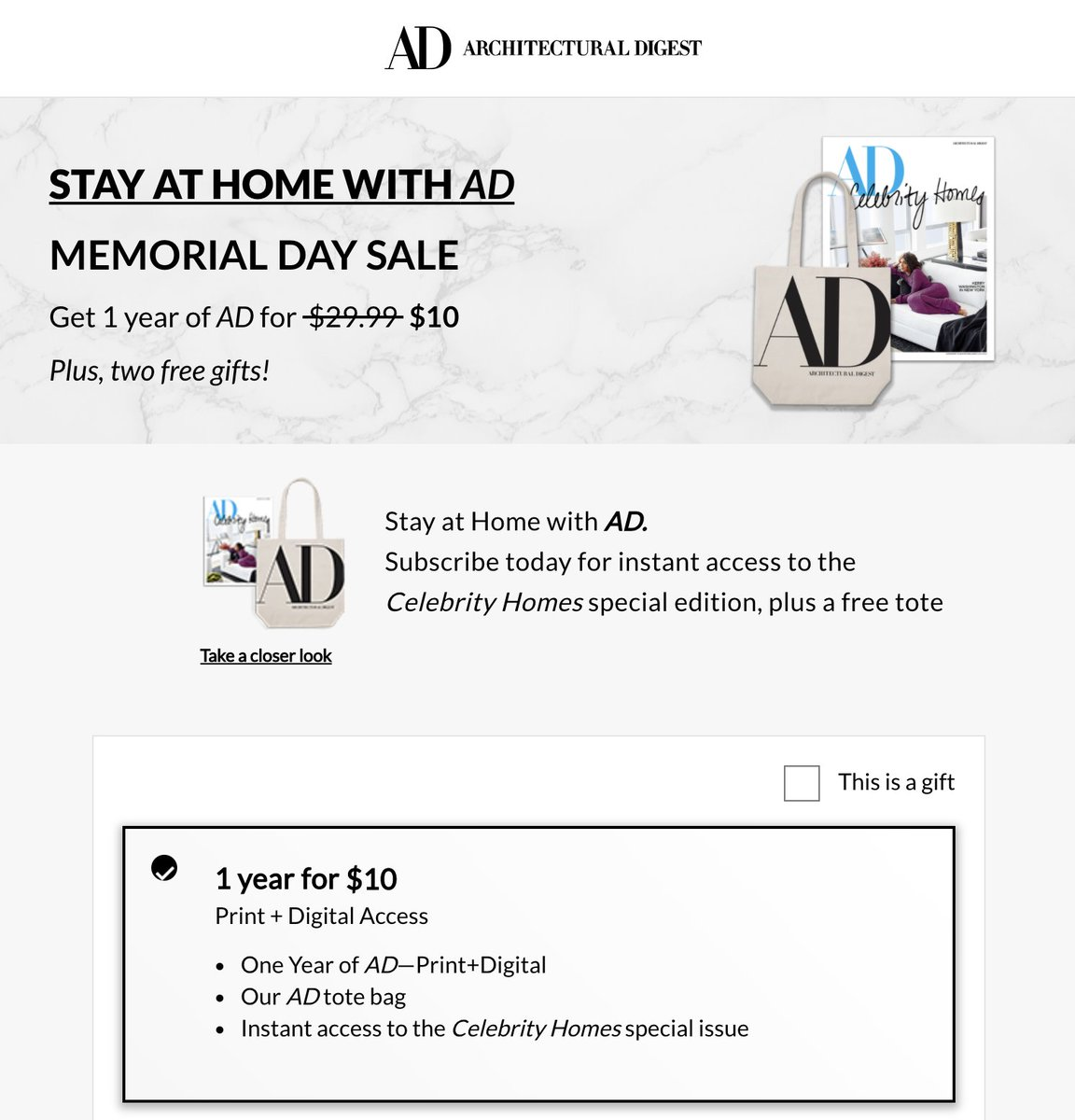 """The same """"Memorial Day Sale"""" INCLUDING the celeb homes edition and the tote  The $10 one was the targeted ad and the $19.99 one was directly on the site. Favor ain't fair you guys! #WontHeDoIt pic.twitter.com/4HX51lFsP7"""