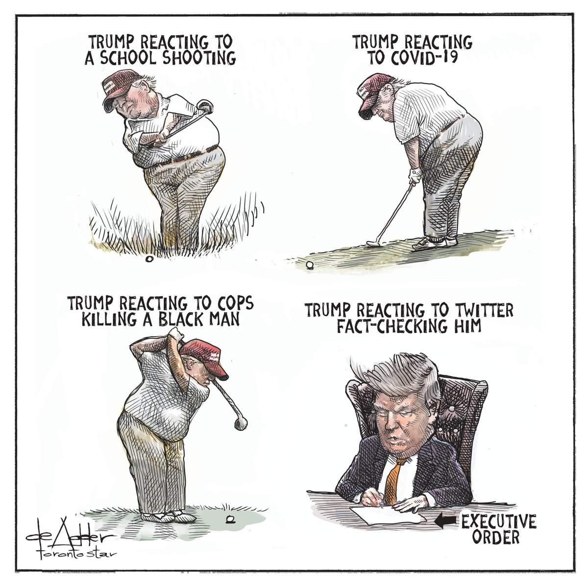 Another sad but true editorial cartoon from the great @deAdder!