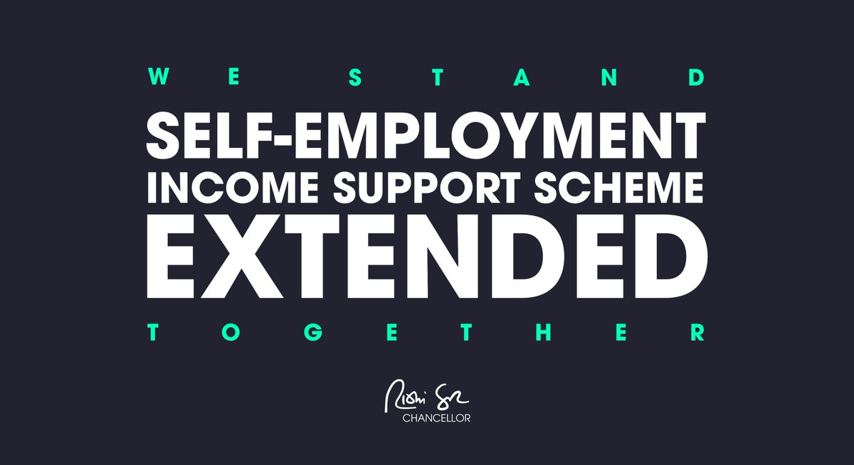 1/ I know people have been waiting to hear and I understand they have been anxious. I can confirm today the self-employment income support scheme will be extended.