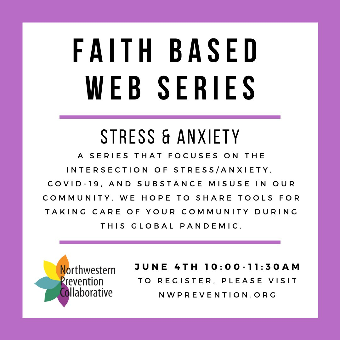 The Northwestern Prevention Collaborative is excited to share our upcoming Faith Based Web Series. Joining us for a morning of learning & collaboration! #Everyonehasarole https://t.co/sBpBjCjvYW https://t.co/82kPucimiH