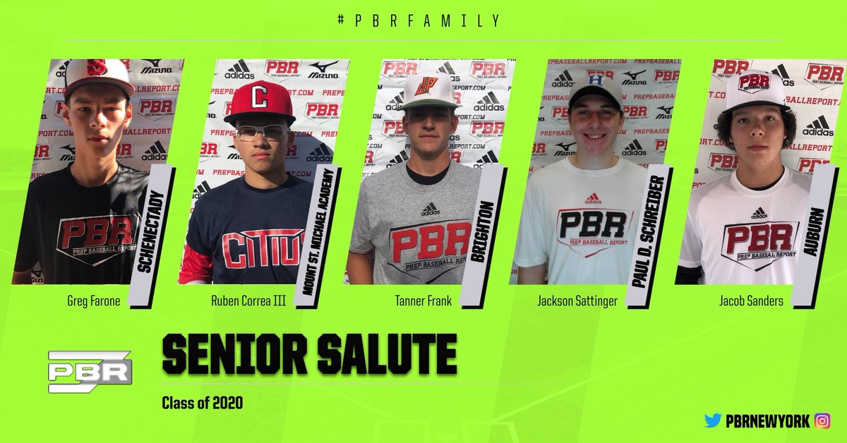 Senior Salute   With the cancellation of the spring season across New York State the #pbrfamily would like to honor the Class of 2020. We wish you the best of luck going forward and thank you for letting us help you!pic.twitter.com/dCwLkE2Xgb
