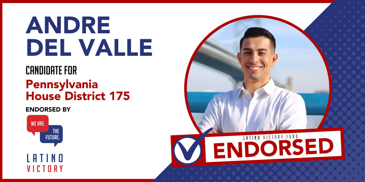 🚨🚨Endorsement Alert🚨🚨 Incredibly proud and excited to announce that we have earned the endorsement of @latinovictoryus ! It's time for a Better Vision for our District, our City, and our Commonwealth! Learn more about my Better Vision at AndreDelValle.com!
