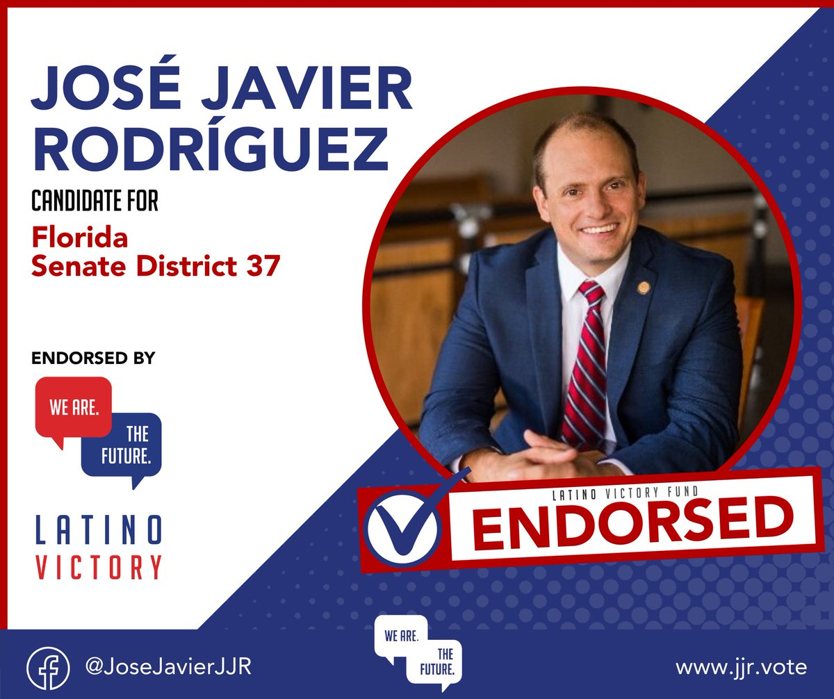 I'm thrilled to have the endorsement of @latinovictoryus — the premier progressive organization dedicated to growing Latino political power at every level of government. I look forward to working together to continue advancing the policies that matter most to our communities.