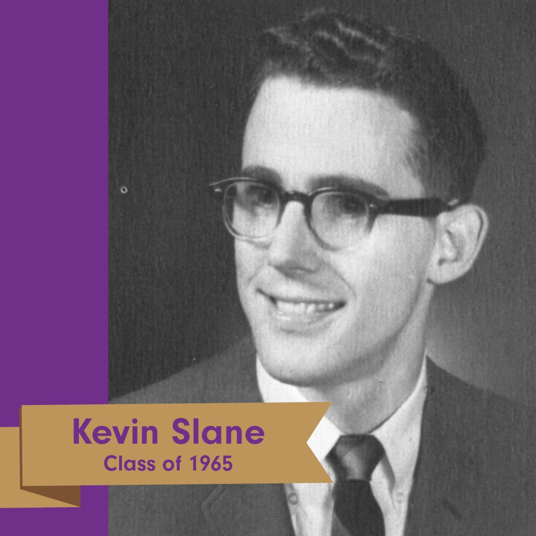 Congratulations to Kevin Slane '65 for being named a Saint Michael's College 2020 Alumnus of the Year! You can read more about Kevin's amazing contributions to #smcvt here: https://t.co/8IUc49eYjR #smcvtalumni https://t.co/Krx1GwrQPx