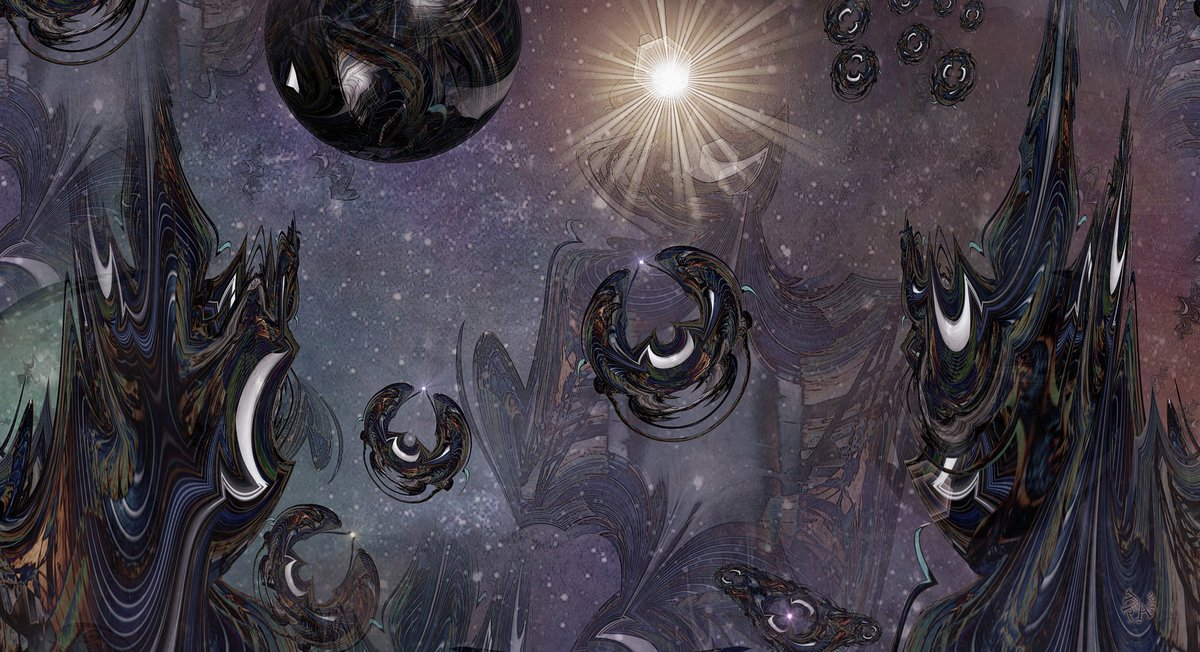 Today's #Abstracteering: 'The two towers' is a close up of 'Reach for the stars'.  #AbstractArt #FantasyArtpic.twitter.com/K6kDxGnqZT