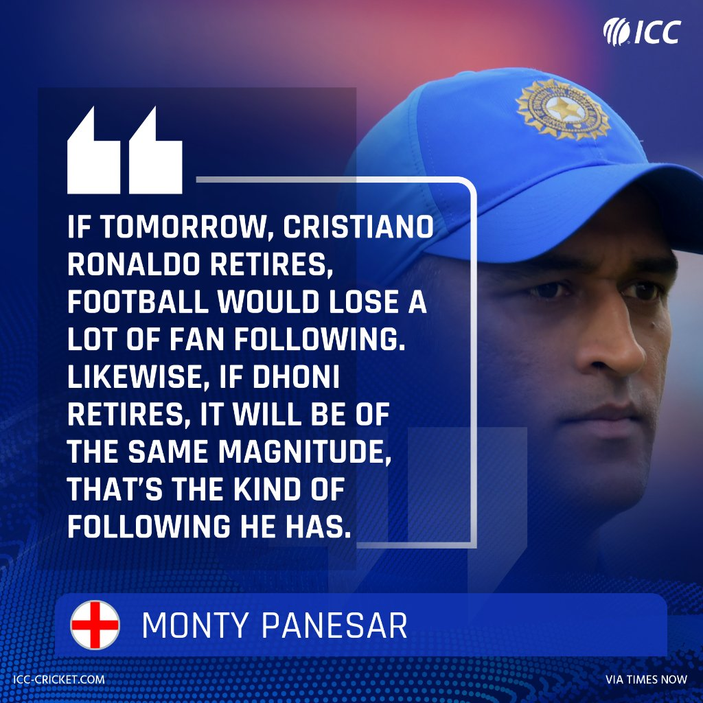 Former  spinner Monty Panesar believes cricket would lose a significant number of fans if MS Dhoni were to retire  <br>http://pic.twitter.com/yhCcIGcx1W