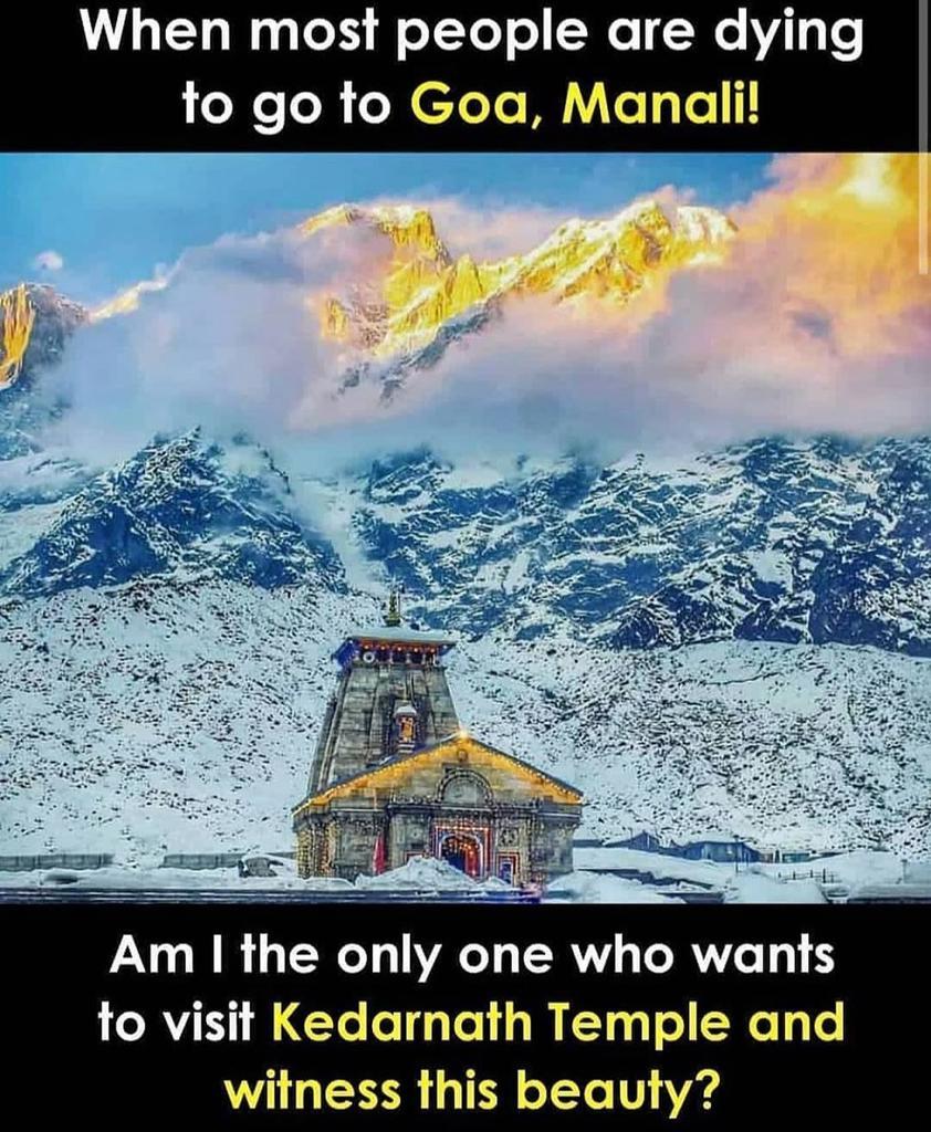 #चारोंयुग_में_आए_कबीरपरमेश्वर Are You?  #Kedarnath  🙏जय बाबा केदारनाथ 🙏 https://t.co/ocA4pxpWU9