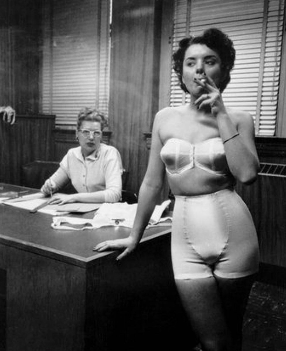 """Gertrude realized quickly that """"dress for the job you want"""" was not going to be a specific enough employee dress code. <br>http://pic.twitter.com/pnJ3m4gqkg"""