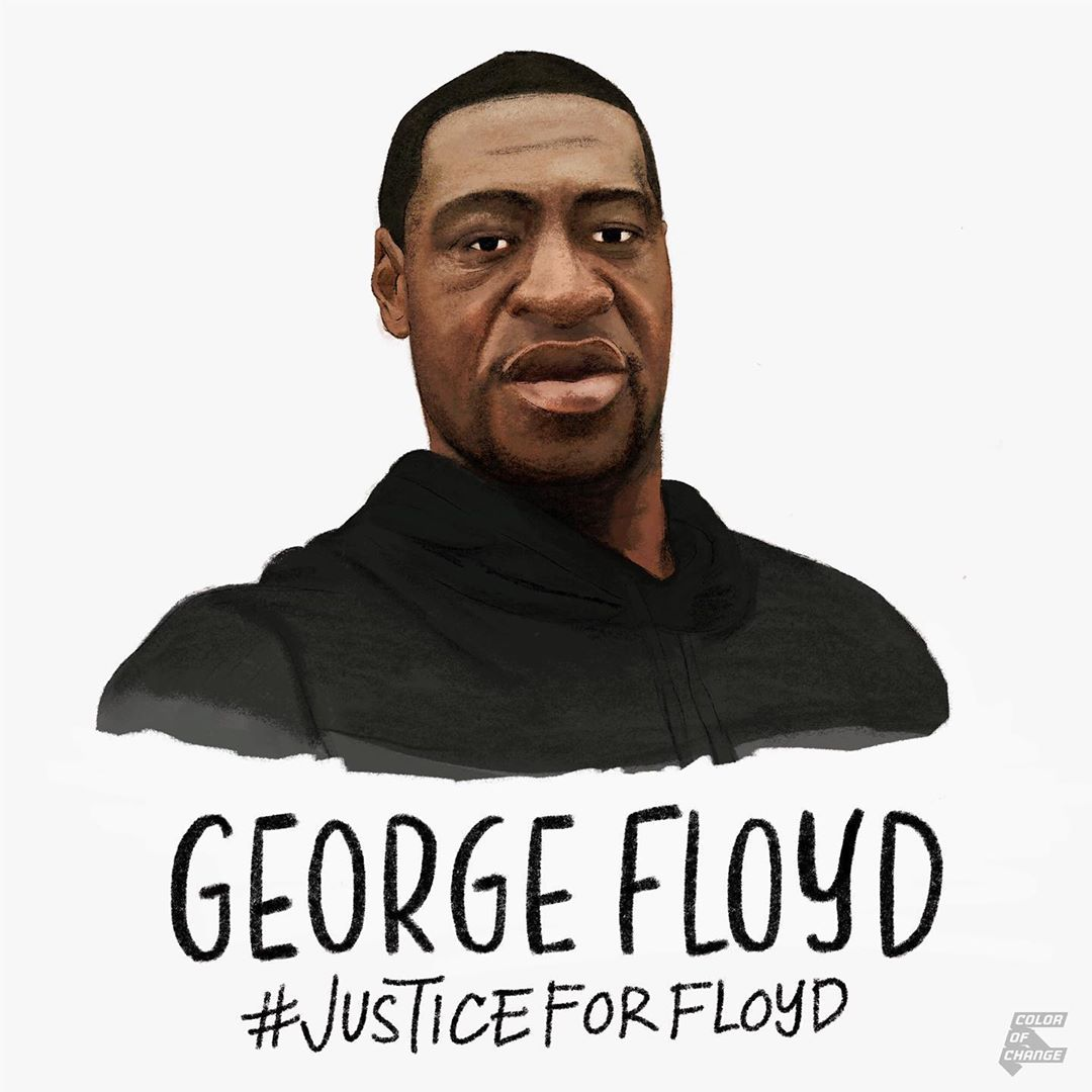 """🗣 Demand justice. 📞 Text """"FLOYD"""" to 55156 to take action. ✍️ Sign the petition NOW: bit.ly/2TLpG6o #BlackLivesMatter @ColorOfChange"""