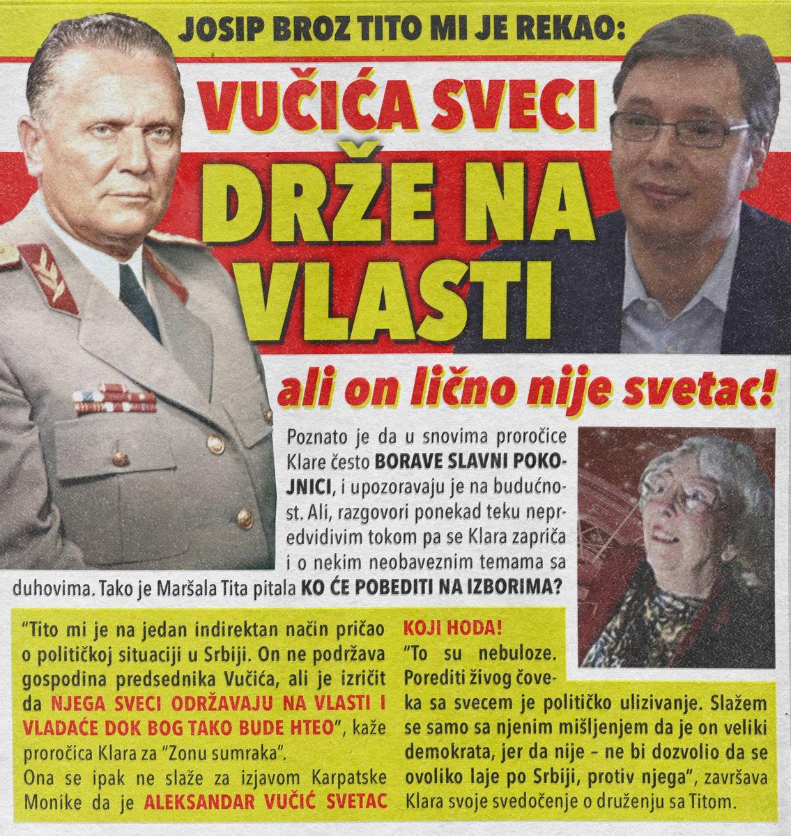 Vidovita Klara: Vučića sveci drže na vlasti