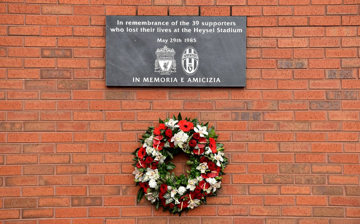 Memoria é Amicizia. Today marks 35 years since the Heysel disaster. Our thoughts are with the victims and those affected.