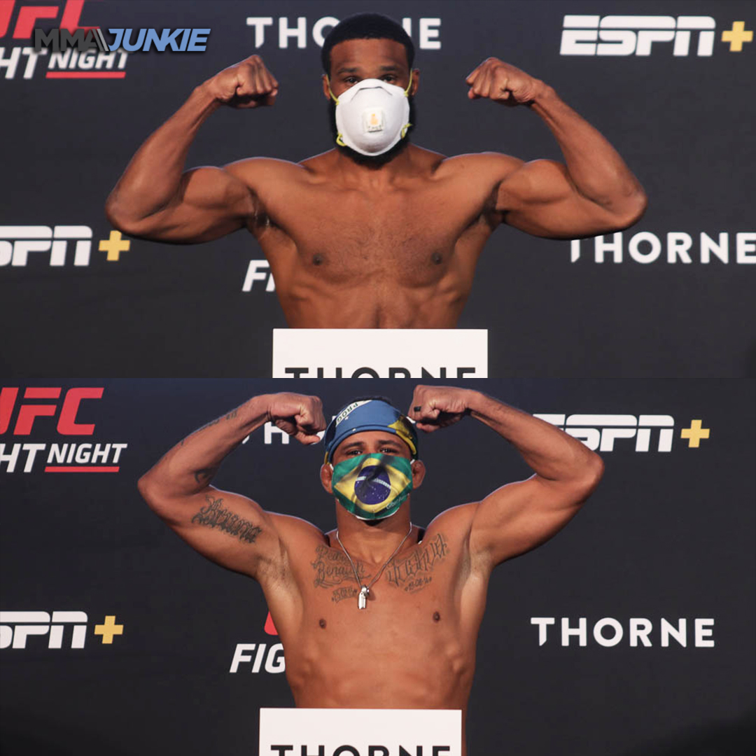 The main event for #UFCVegas is official, both Tyron Woodley and Gilbert Burns make the welterweight limit 👊👊 https://t.co/Tf0lxMcfwa
