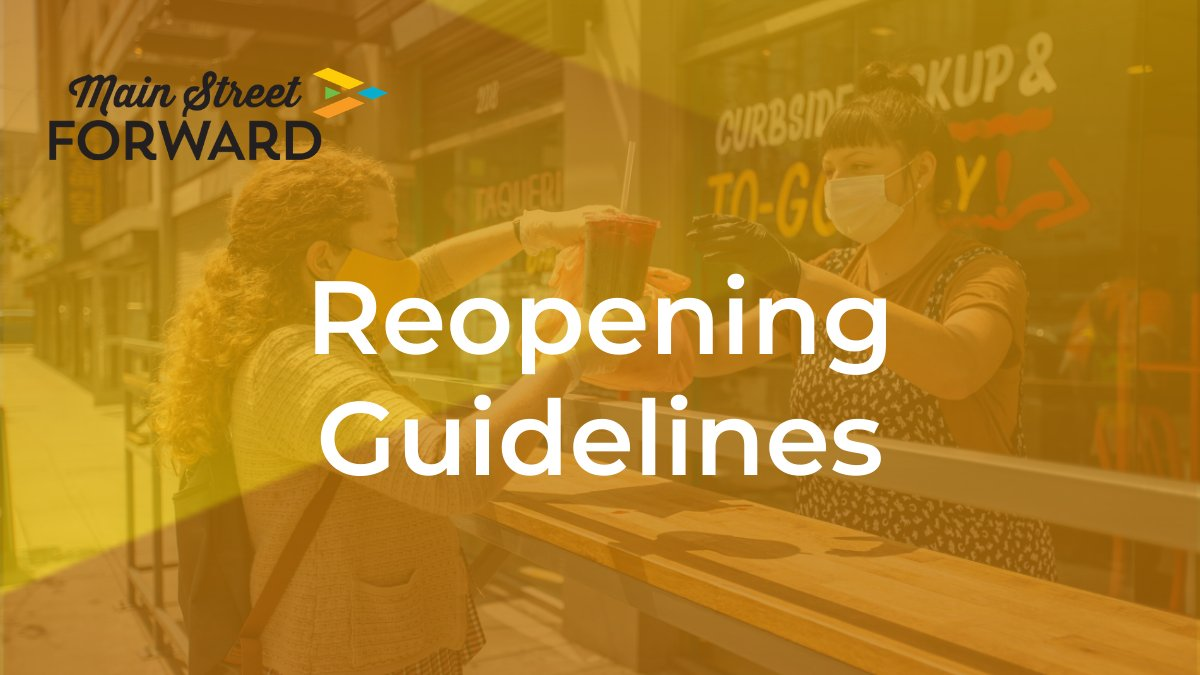 The Reopening Guidelines section of our #MainStreetForward Resource Center includes: • Tips for Community Leaders • Tips for Small Business Owners • State Reopening Plans • Industry Guidance for Main Street-specific businesses  Start exploring today:  http:// ow.ly/zT1750zTGLu    <br>http://pic.twitter.com/4qRU235sVk