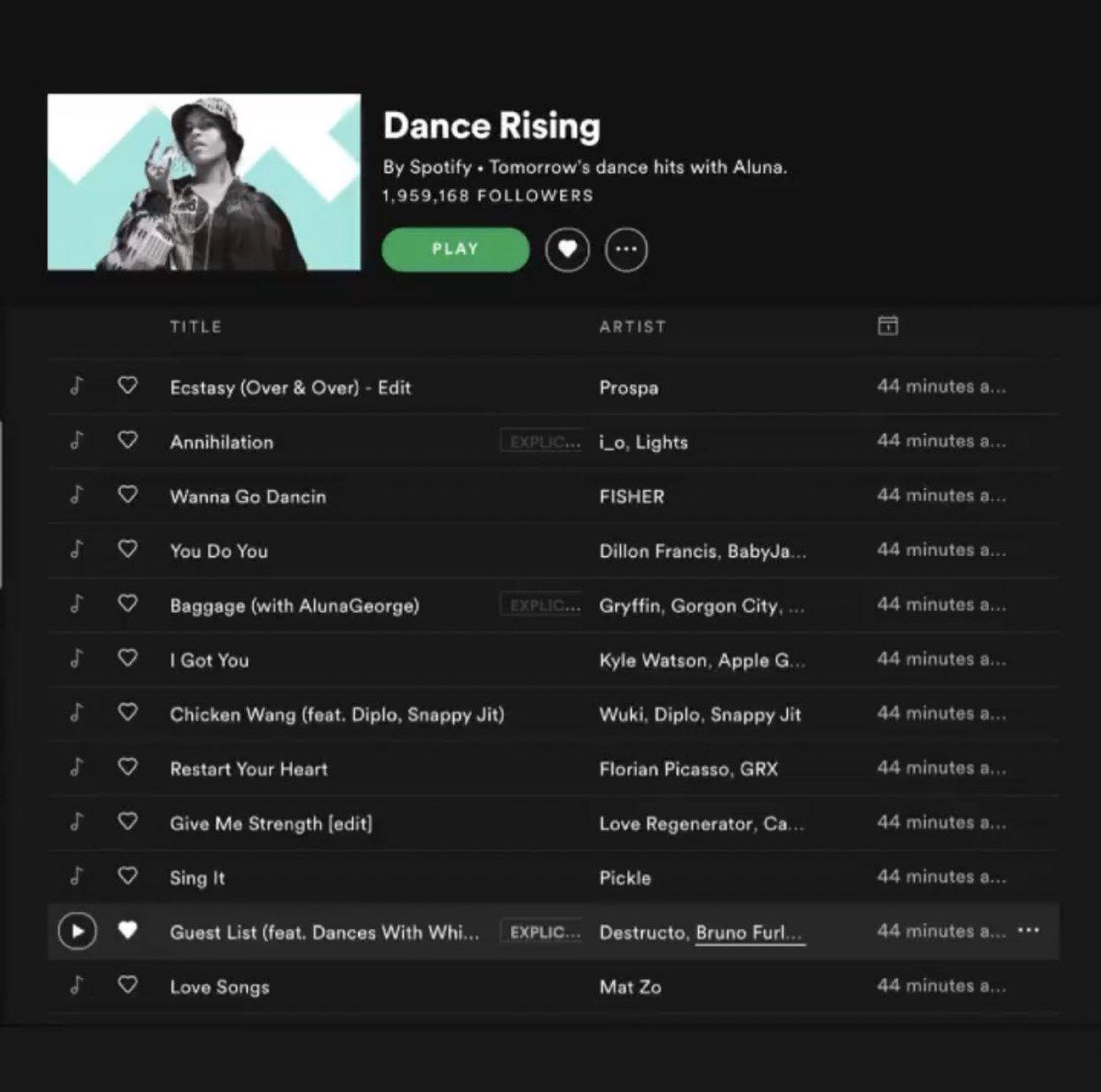 39º #BASSHOUSE on @beatport  #DanceRising on @Spotify   @destructoamf, & @djbrunofurlan - Guest List (Ft @dances)  🏅🔥