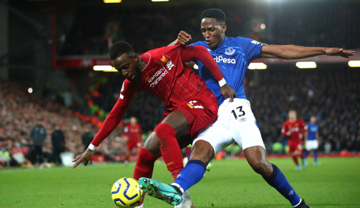 #PremierLeague🏴󠁧󠁢󠁥󠁮󠁧󠁿 - Yerry Mina🇨🇴 podría jugar el derbi de Liverpool en campo neutral ▶️ https://t.co/rsBWsKPY7M https://t.co/O3Os2VorG1