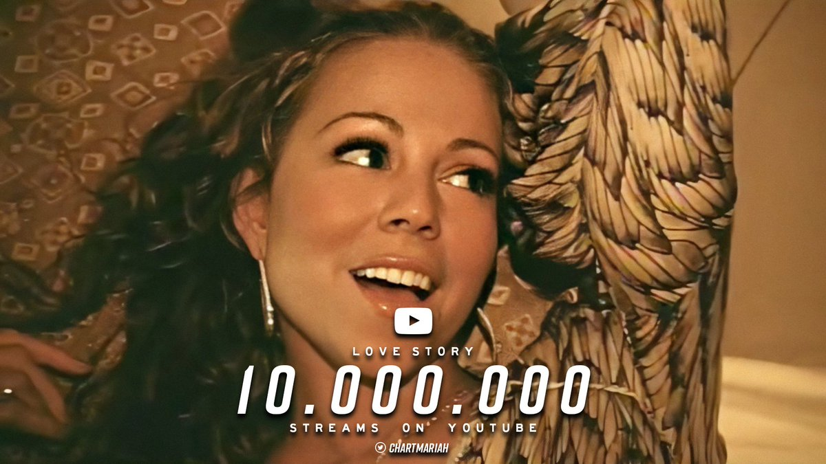 """Mariah Carey's """"Love Story"""" has now surpassed 10 MILLION views on YouTube. <br>http://pic.twitter.com/Lb1VhjnYAO"""