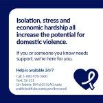 Image for the Tweet beginning: Isolation, stress and economic hardship