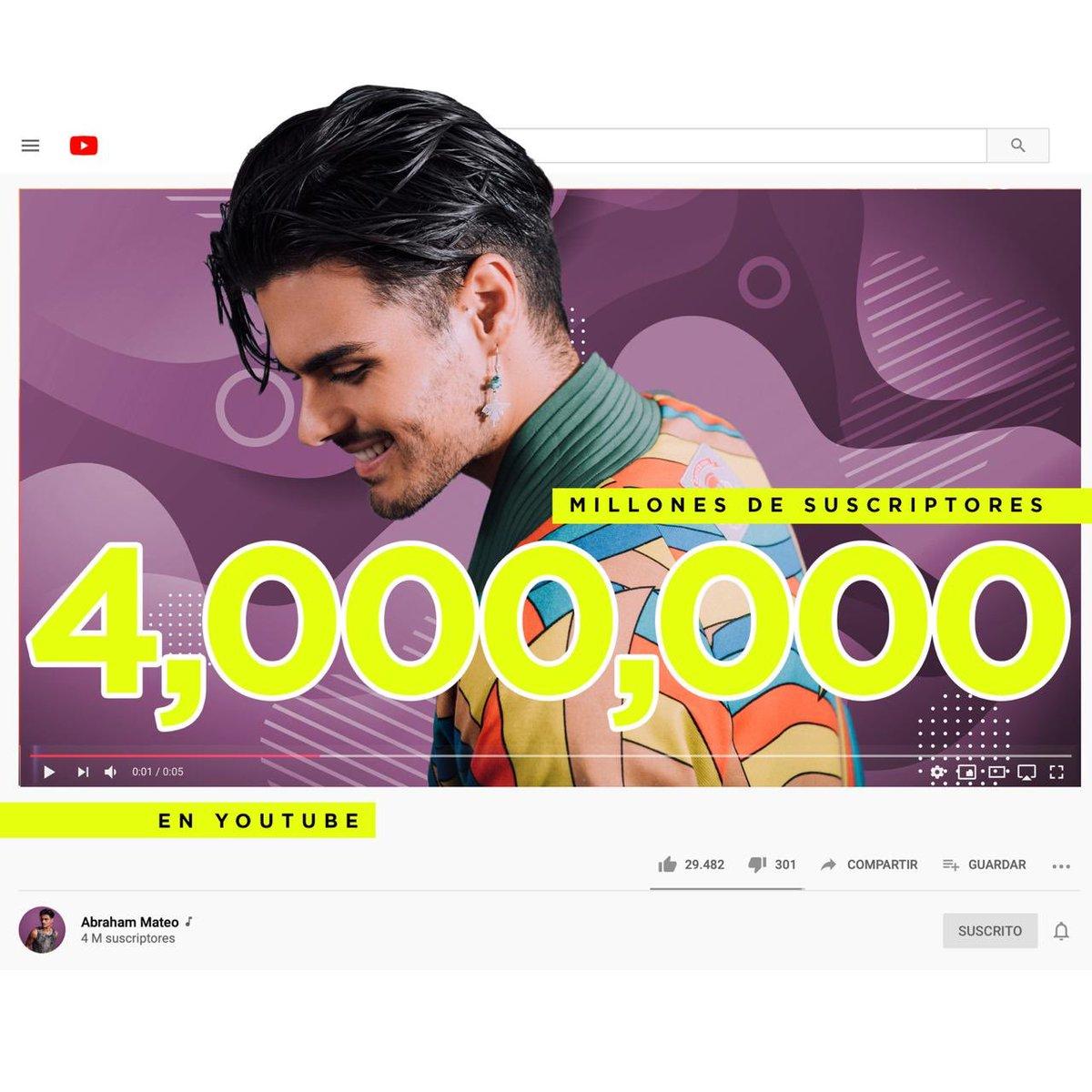Ya somos más de 4 millones de suscriptores en @YouTube Gracias💜🙏🏼 https://t.co/CeBXVU7xCb https://t.co/Iw5CKN6MZi