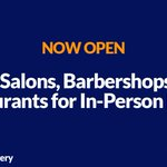 Image for the Tweet beginning: Hair salons and barbershops can