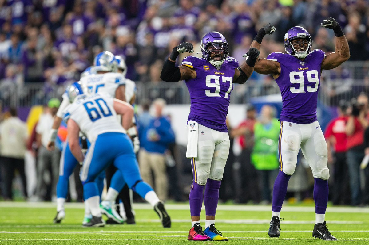 In the 2019 Regular Season, only one starting edge defender duo combined for 150+ pressures: Danielle Hunter and Everson Griffen #Vikings #SKOL