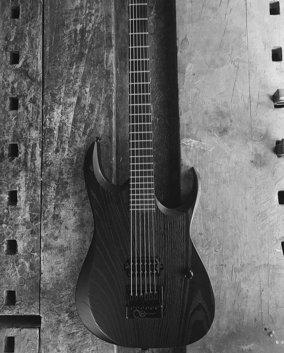 A single humbucker, one knob, and an @EverTune8. This Majesty Custom is the definition of lean and mean. #evertune #6string #djent #heavymetal #metalguitar #rockguitar #shredguitar #electricguitar #geartalk #geartone #guitar #guitargear #guitarlove #guitarporn #guitarshredpic.twitter.com/kFysWlmmBh