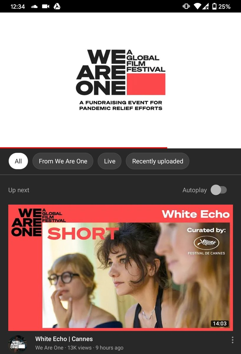 #weareone is on! So if you are into #FilmFestival s you should definitely check it out! #tribeca #cannes https://t.co/UAuofEWM1B https://t.co/pOZZkrAs0p