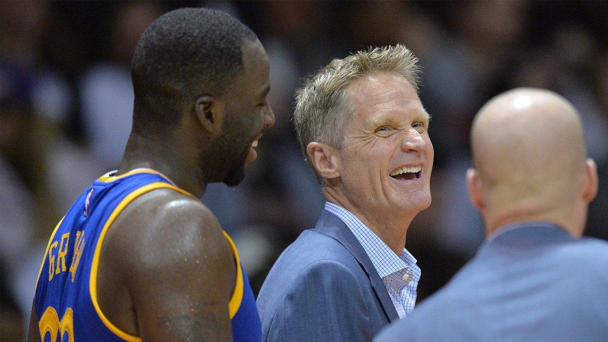 Steve Kerr revealed that the Warriors make fun of Draymond Green the exact same way once per season 🤣  https://t.co/2z4sOHgVRs https://t.co/UF5M3FwQya