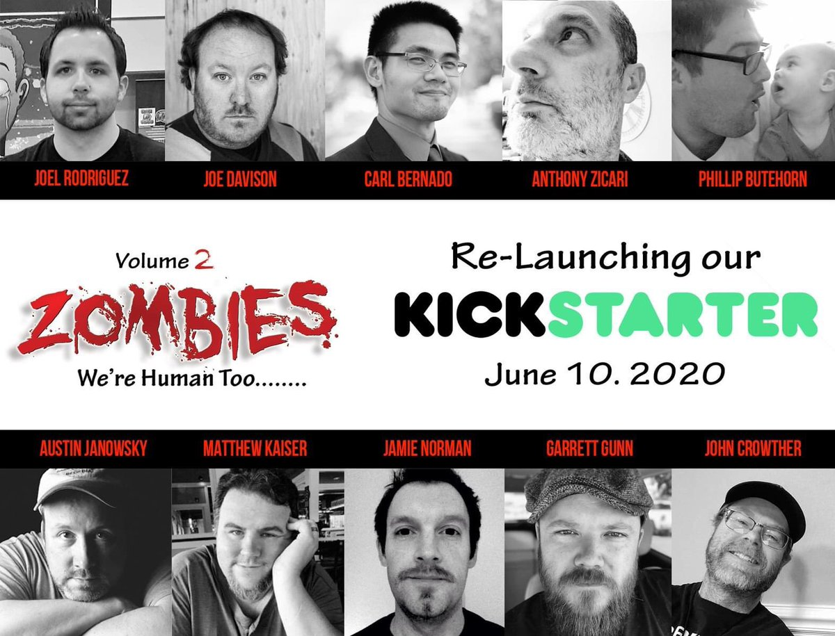 We are re-launching in 13 days! Telling Zombie stories BEFORE and HOW they become zombies! #Kickstarter #zombies #graphicnovel #comics #horror #indiecomics #artwork #writing #supportsmallbusiness #supportcomics @Joeygigglepants @SomeWriterGuy @mwkaiserlive https://t.co/oAjvhgF81J