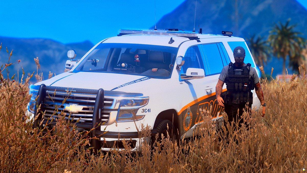 Trooper that's not a highway, no speeders there... _____________  Model: 2020 Chevrolet Tahoe by Redneck, part of 2020 Code 3 Pack Credits: Price ______________  #gta #gta5 #gtav #lcpdfr #lspdfr #fivem #5m #redneck #redneckmods #police #chevy #tahoe https://t.co/WSJtfRevaN