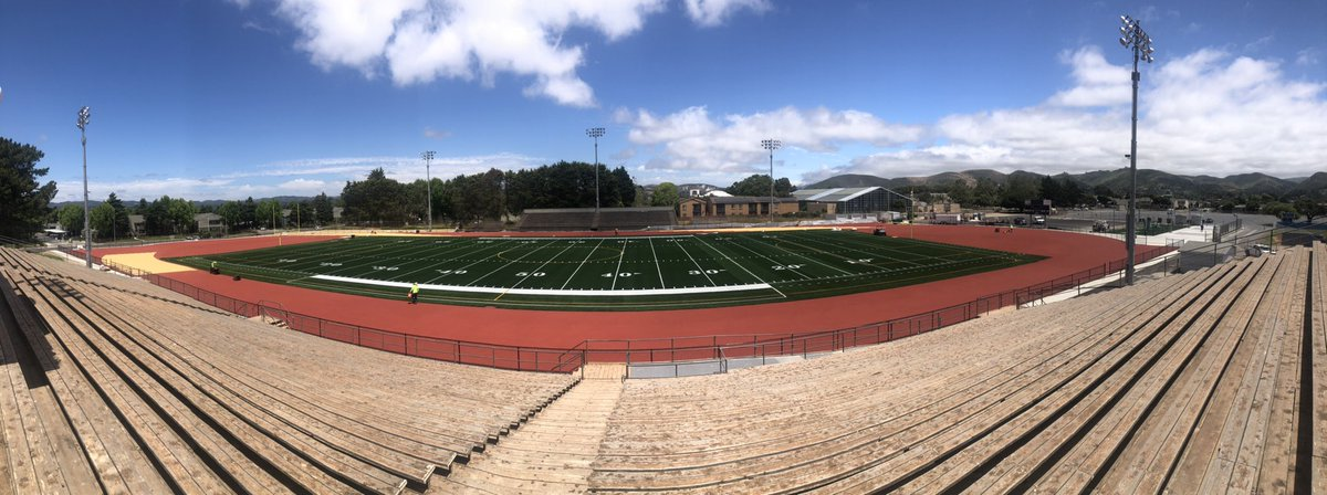 Friday's view from the Top!! Huyck Stadium....Home of the Braves!!!