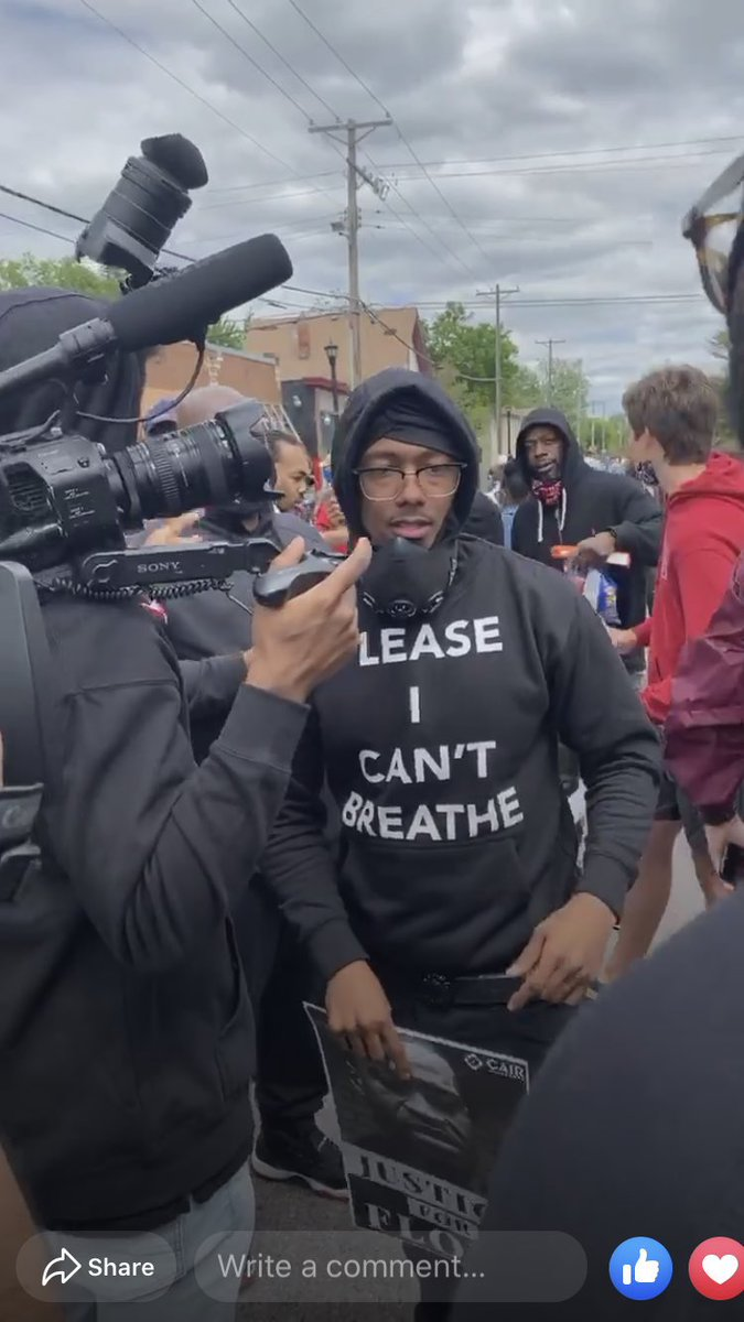 Nick Cannon is on the FRONTLINE in Minneapolis in honor of George Floyd. https://t.co/N3JZXEn8wl