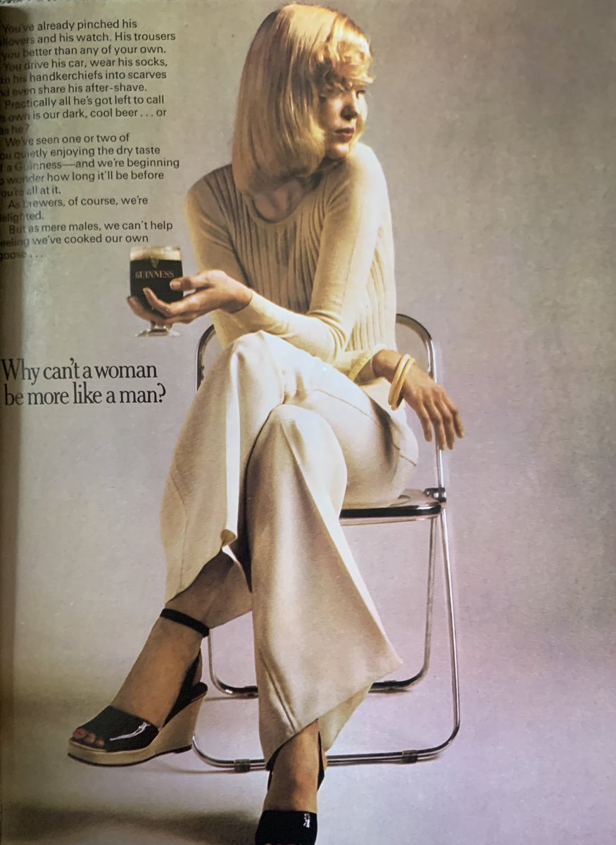 Why can't a woman be more like a man? 🤔 @GuinnessIreland #1970s #guinness #beer #Vogue https://t.co/llAbPuUTS6