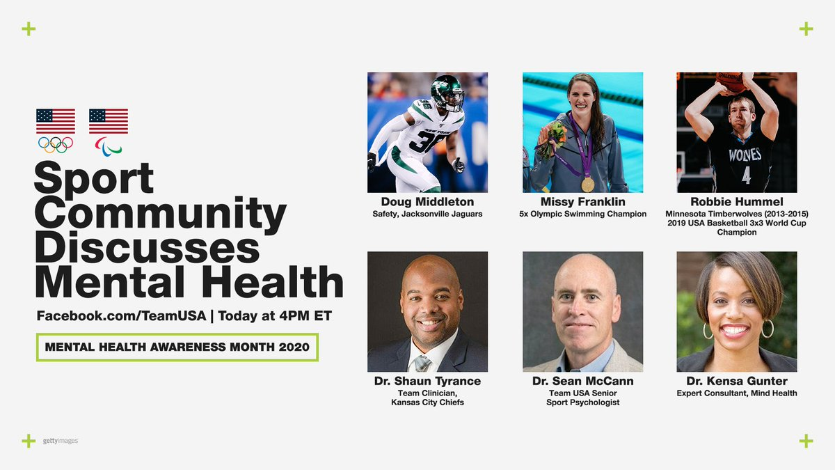 Today's the day!  Don't forget to set a reminder for our sport community discussion on #MentalHealthAwarenessMonth at 4 PM ET.  🔗: https://t.co/WGyrsl2piw https://t.co/vrIZyqBn25