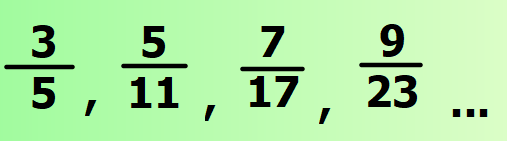 Are all fractions in this sequence in their simplest form?