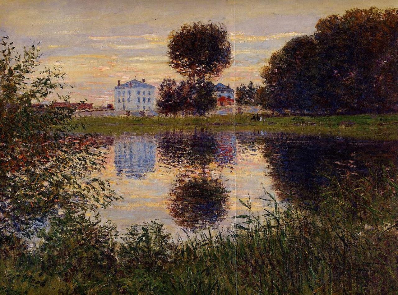 """Arte y más on Twitter: """"El árbol en forma de bola, Argenteuil, 1876, Jean Claude  Monet… """""""