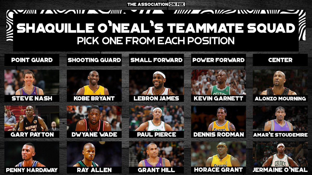 Build your squad from @SHAQ's teammates ⬇️